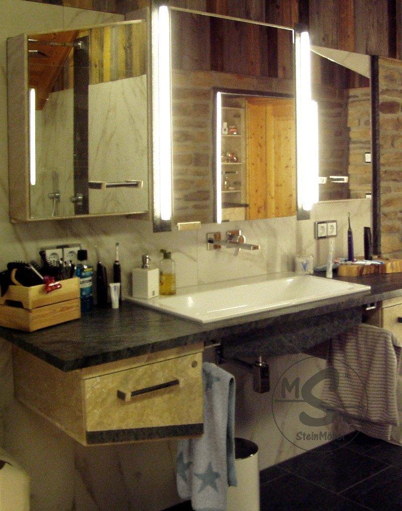 Bäder Galerie freitragende Waschtischanlage
