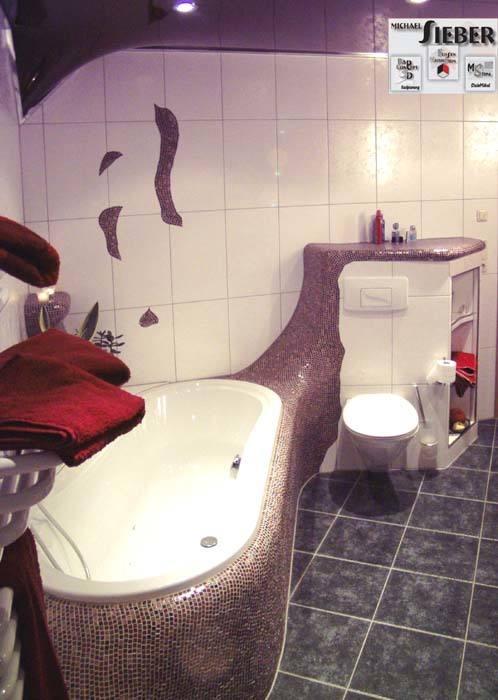 Geformter Übergang von Wanne zum WC Bäder Galerie