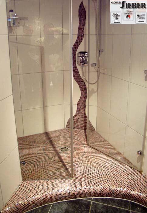 Dusche in 3-dimensionaler Ausformung Bäder Galerie