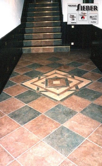 Fußboden Fliesen mit Ornament