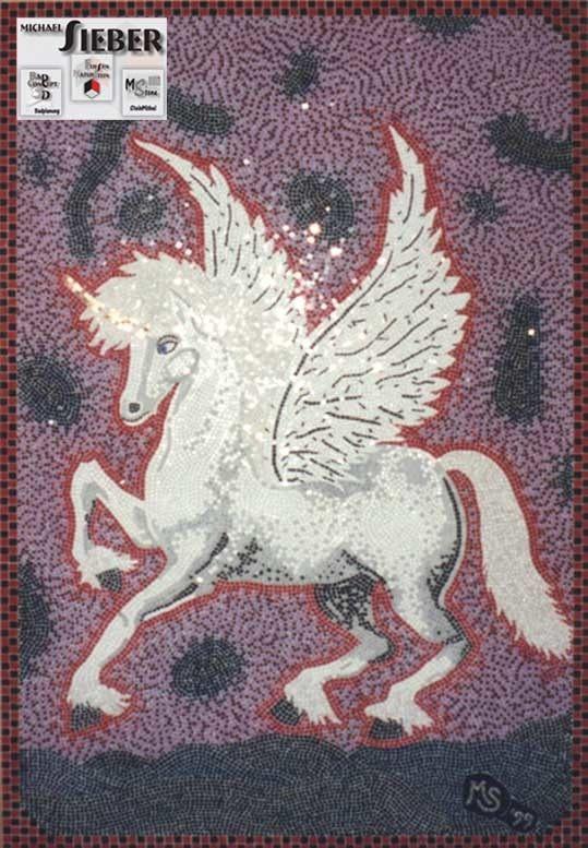 Mosaik Einhorn