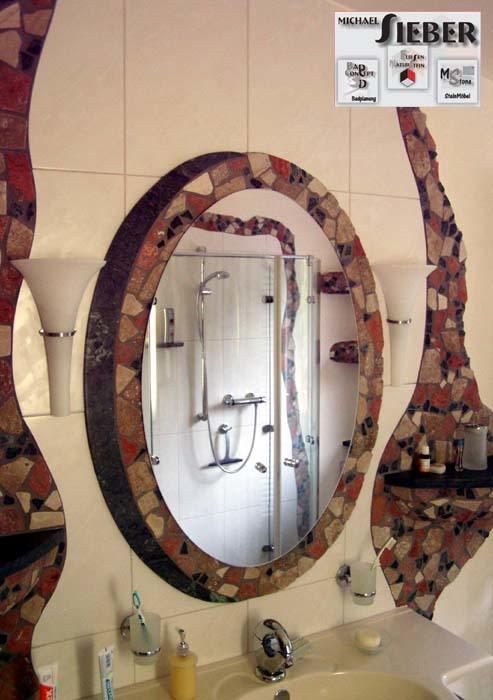 Spiegel mit Schatten aus Stein