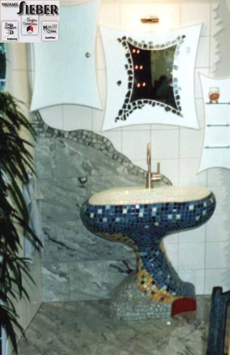 Waschbecken aus Mosaik die Zweite