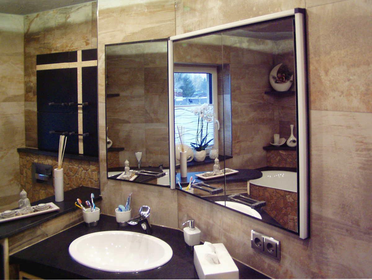 Wandbündig eingearbeiteter MStone Spiegelschrank